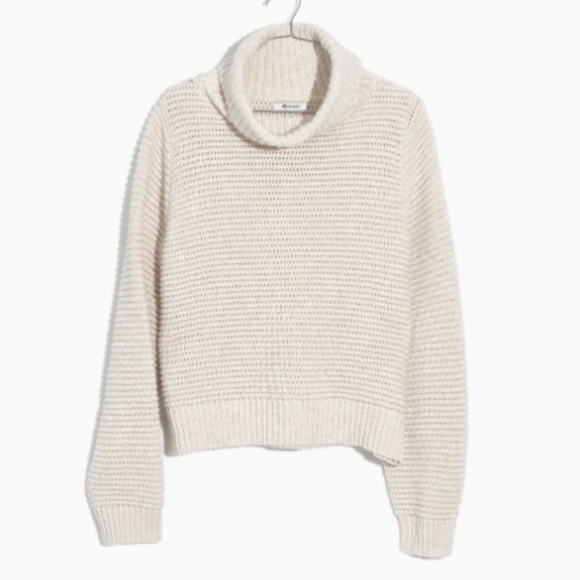 3f0d1dfca86 Madewell Side-Button Turtleneck Sweater Size XS
